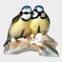 Hutschenreuther Porcelain Figurine - Love Birds on a Branch