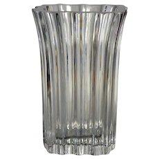Kosta Boda Art Glass - Flared, Ribbed Vase - by Anna Ehner, No. 47746