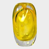 Studio Art Glass Post Modern Organic Miniature Vase by H. Wilson