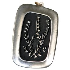 Rune Tennesmed Mid-Century Modernist Lily of the Valley Pendant Necklace