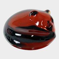 William Goebel Art Glass Ruby Bear Paperweight