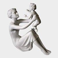 Kaiser Porcelain Figurine: Mother Holding Child by G. Bochmann