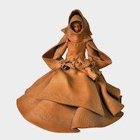 P. SERRA OLBIA, Italy - Terra Cotta Figure of Woman, #D-13