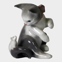 """LLADRO Figure """"Cat with Mouse"""" No. 5236"""