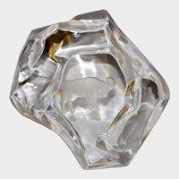 Val St. Lambert Crystal RAM - ARIES - Zodiac Paperweight