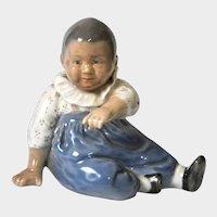 Royal Copenhagen Figurine - Child Sitting - by Else Sandholt, #1517, c1940