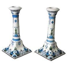 Porceleyne Fles Royal Delft Candlesticks