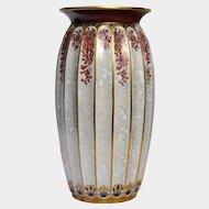 DAHL-JENSEN Porcelain Cracquelure Art Deco Vase, c1930's, Denmark