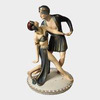 VALENTINO - Royal Dux Figural Dancers Rudolph Valentino & Vilma Banks, #2993/4