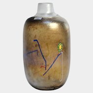 KOSTA BODA Glass TORNADO Flaska Bottle Vase by Bertil Vallien, c1983, Sweden