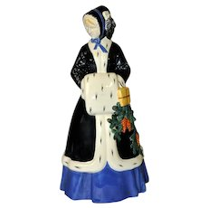 Vienna Secessionist Figurine of WINTER by J. Meier-Michel, WKKW Pottery