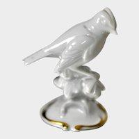 Rosenthal Porcelain Figurine of a Firecrest Bird by Ottmar Obermaier