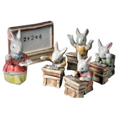 Easter Bunny Ceramic Bunny Figurines Classroom Set
