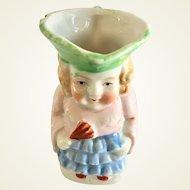 Miniature Toby jug of Lady in Blue Ruffles