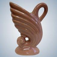 Vintage Beauce Ware Pink Flamingo Pottery Water Jug #214 Canada