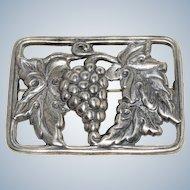 Vintage Danecraft Sterling Silver Grape Brooch Pin
