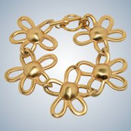 Vintage Anne Klein Floral Design Costume Jewelry Bracelet
