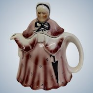 Vintage Little Old Lady Tony Wood Staffordshire England Teapot