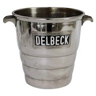 French Vintage Champagne Bucket / Cooler Delbeck Reims c. 1930s
