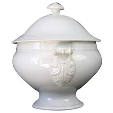 French Antique Soup Tureen in Ironstone by Fenal Frères, Pexonne c.1857
