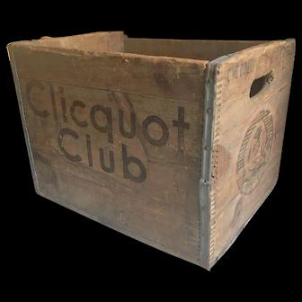 1930's Club Clicquot Wooden Soda Box