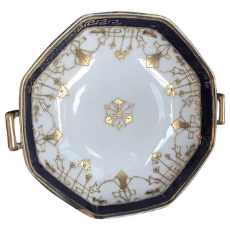Nippon Cobalt and Gold Candy Dish