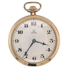 Omega dress pocket watch with original papers