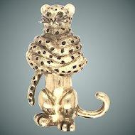 18k Leopard Figurine Pin