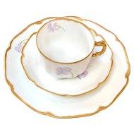 Sweet Haviland Limoges Violet Luncheon Set