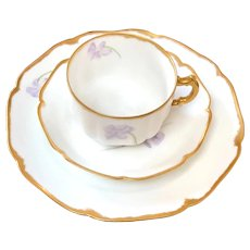 Sweet Haviland Limoges Violet Luncheon Set