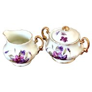 Vintage Royal Sealy Japan Porcelain Miniature Sugar Bowl and Creamer set