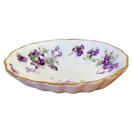 Hammersley Fruit/Sauce bowl in the Victorian Style Violets pattern