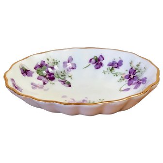 Hammersley Fruit/Sauce bowl in the Victorian Violets pattern