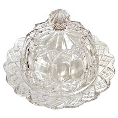 EAPG Imperial Glass #1 Clear Lidded Butter Dish c.1904