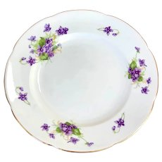 Adderley Bone China Made in England violet luncheon plates