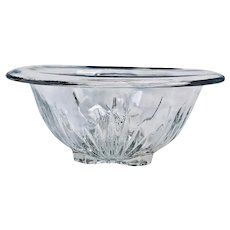 Depression Era Federal Glass Clear Footed Mixing Bowl 1941.