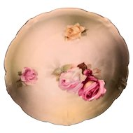 "R&S Germany molded, scalloped rose plate (6"")."