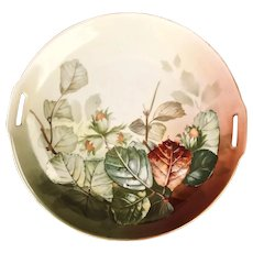 R.S. Germany (Green Mark) Fall Foliage Handled Plate