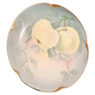 Decorative 1900s Scalloped Apple plate. JC Louise, Bavaria