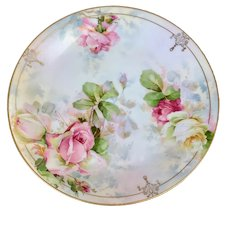 Gorgeous Royal Rudolstadt iridescent rose plate