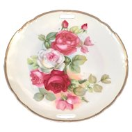 Decorative Rose Floral Serving Handled Plate