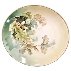 R.S. Germany (Green Mark) Fall Foliage Cabinet Plate