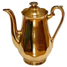 Hall Golden Glo 22 Carat Tea Pot