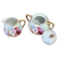 Royal Rudolstadt Prussia Beyer & Beck Art Deco creamer and sugar set