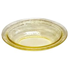 Depression Glass Florentine #2/Poppy Yellow Oval Vegetable Dish 9""