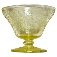 Depression Glass Florentine #2/Poppy Yellow Sherbet or Champagne Glasses (2)