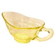 Depression Glass Florentine #2/Poppy Yellow Gravy Boat