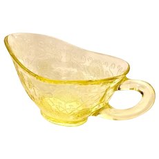 Depression Glass Florentine #2/Poppy Yellow Gravy Boat