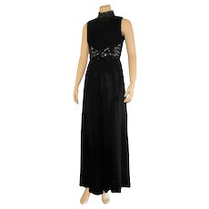 Late 1960's Black Sequined Culottes/Jumpsuit
