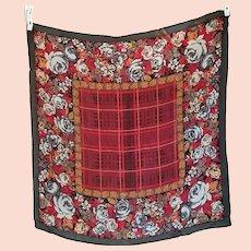 Vintage Silk Scarf by Oscar De La Renta